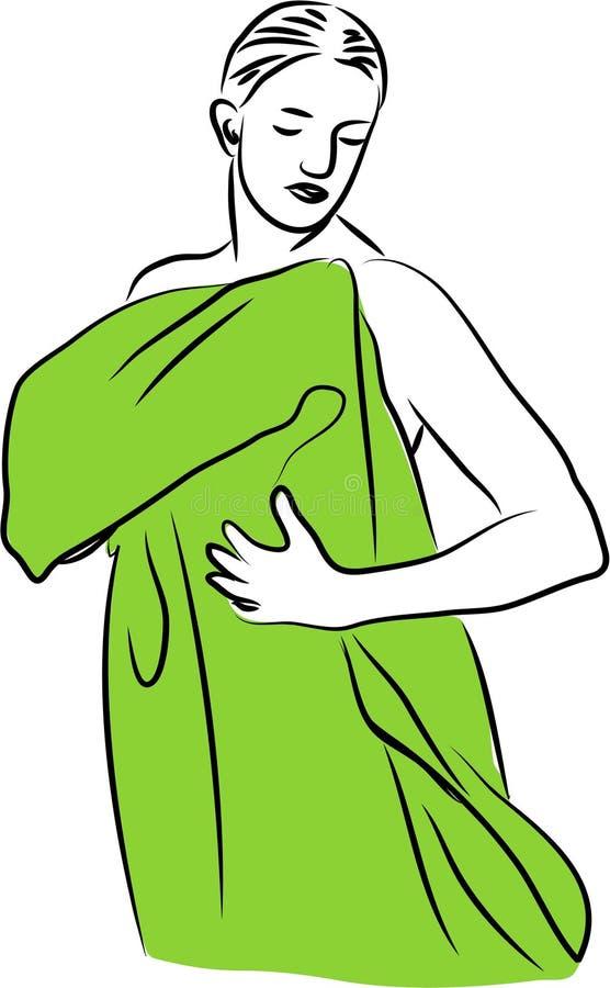 suchy ręcznik ilustracja wektor