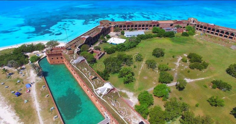 Suchy Tortugas park narodowy, fort Jefferson Floryda USA obraz royalty free