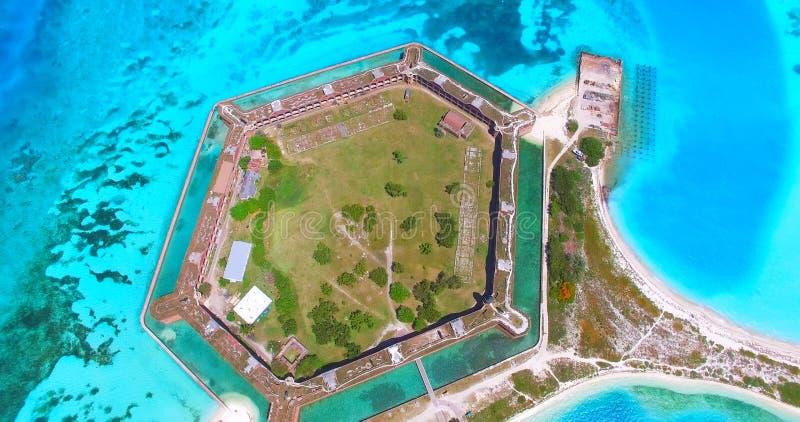 Suchy Tortugas park narodowy, fort Jefferson Floryda USA fotografia stock