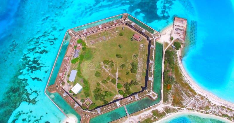 Suchy Tortugas park narodowy, fort Jefferson Floryda USA fotografia royalty free