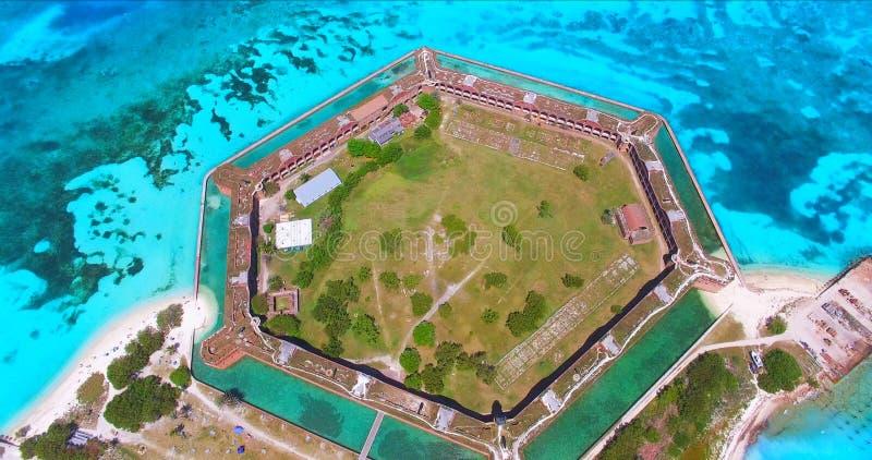 Suchy Tortugas park narodowy, fort Jefferson Floryda USA zdjęcie stock