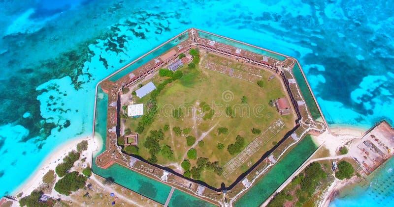 Suchy Tortugas park narodowy, fort Jefferson Floryda USA zdjęcie royalty free