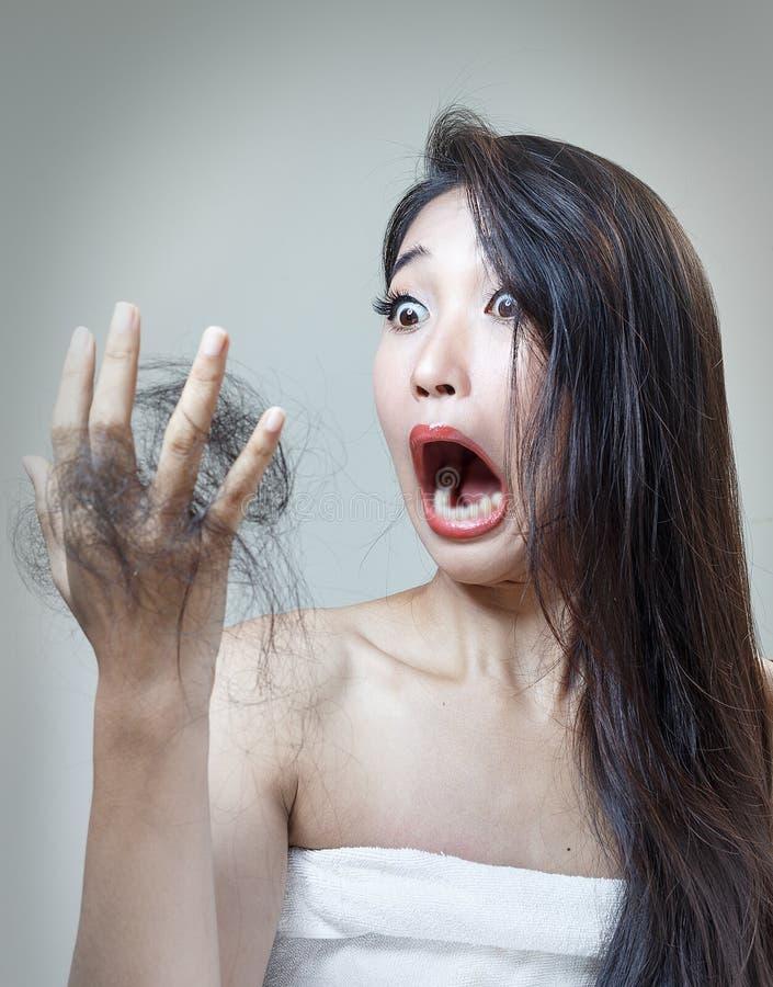 suchy włosy obraz stock