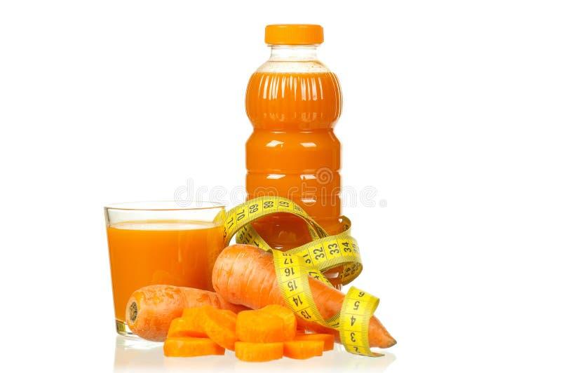Suco da cenoura e da abóbora imagem de stock