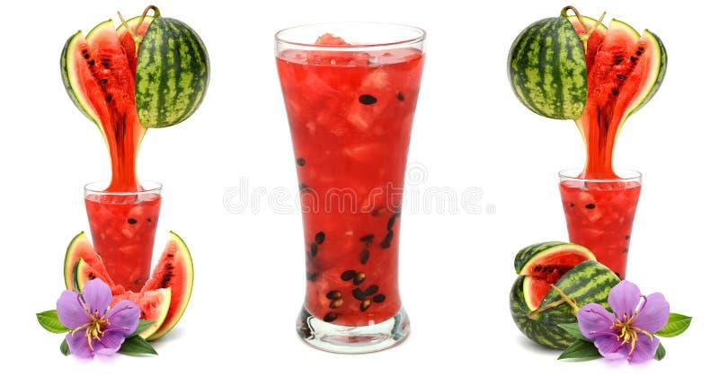 Suco da melancia imagem de stock