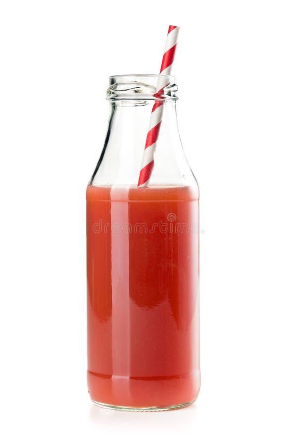 Suco da morango no vidro fotos de stock royalty free