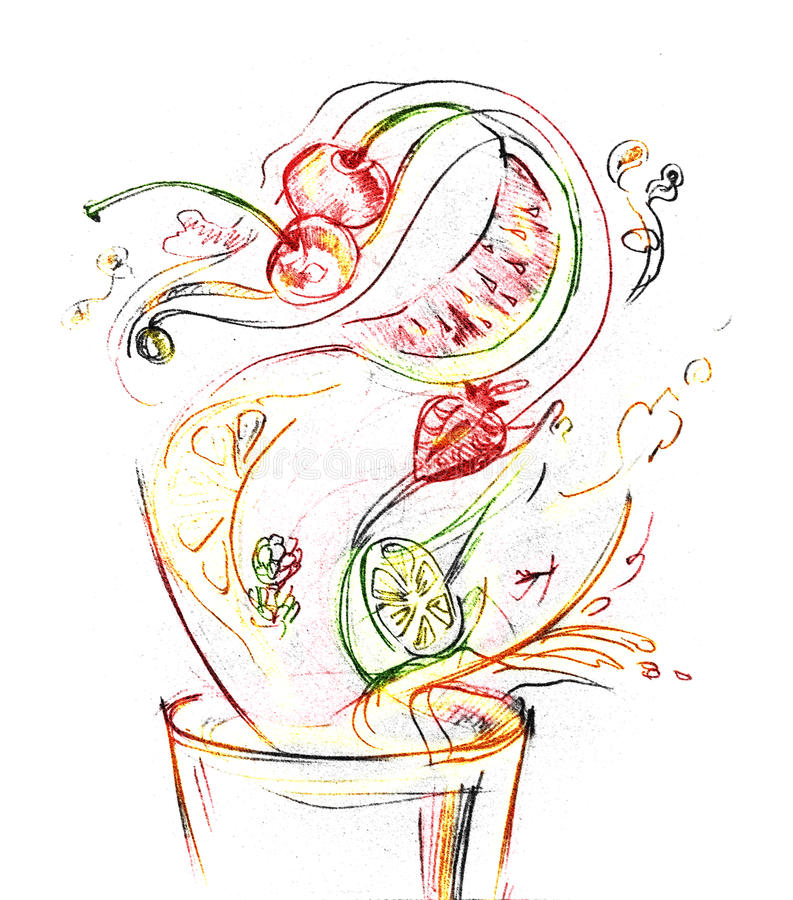 Suco de Frash ilustração royalty free