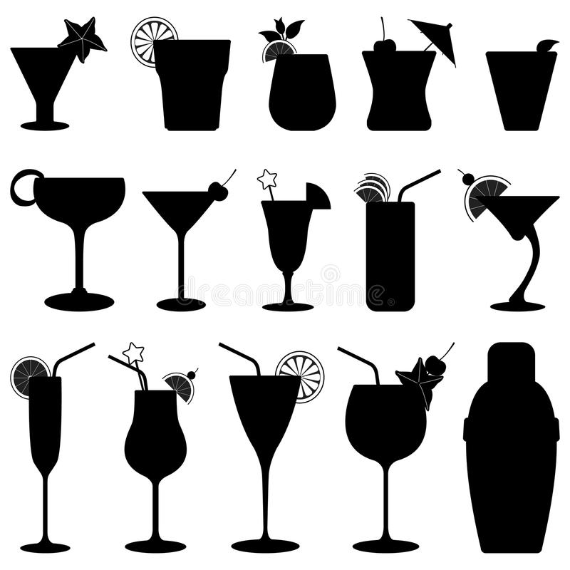 Suco de fruta da bebida do cocktail ilustração stock