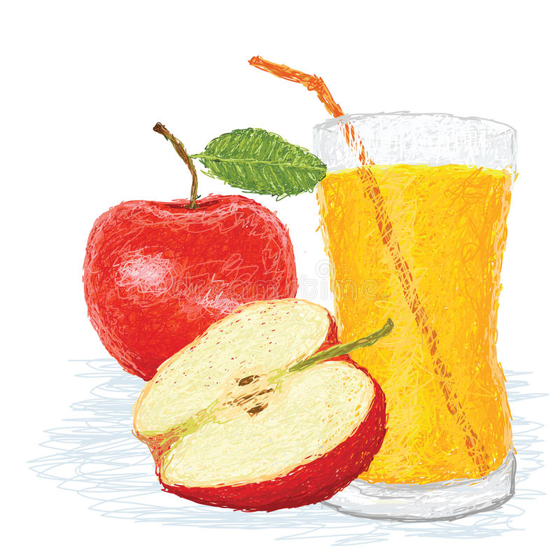 Suco de fruta de Apple ilustração stock