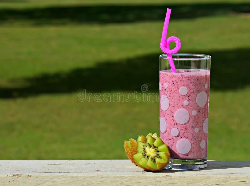 Suco de fruta em trilhos foto de stock