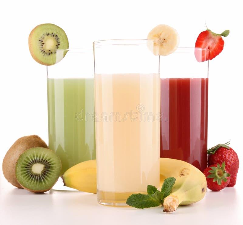 Suco de fruta isolado foto de stock
