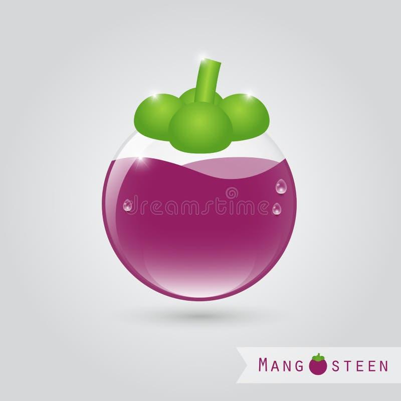 Suco de fruto do mangustão ilustração royalty free