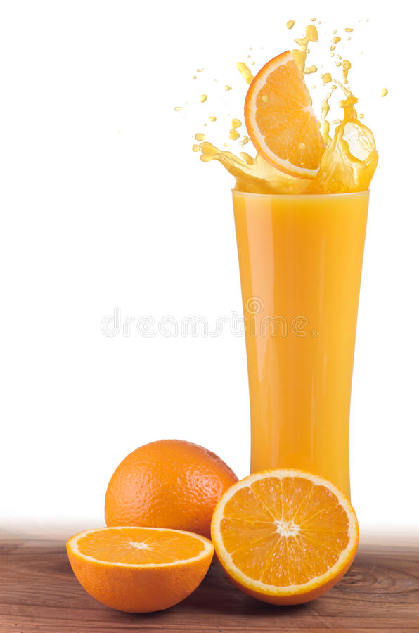 Suco de laranja foto de stock