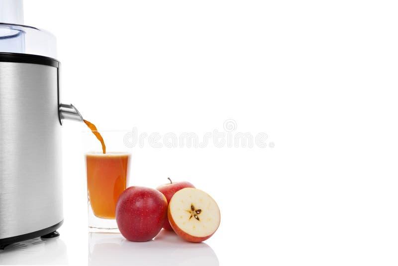 Suco de maçã fresco. imagens de stock royalty free