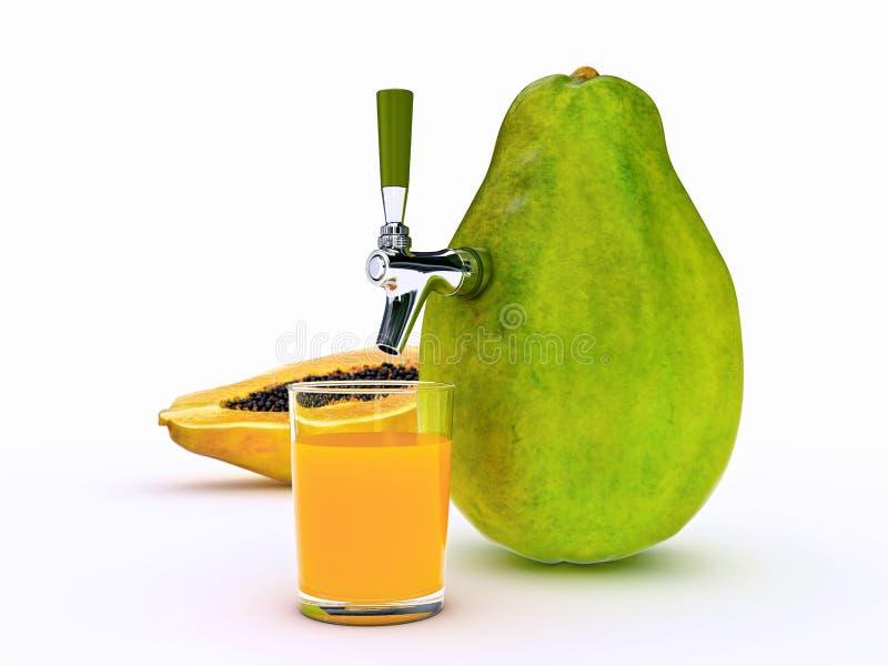 Suco de papaia ilustração royalty free