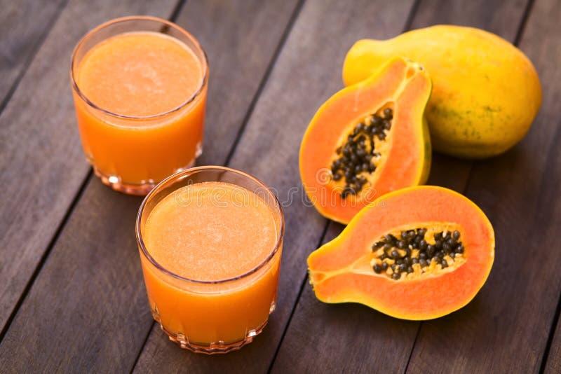 Suco de papaia foto de stock