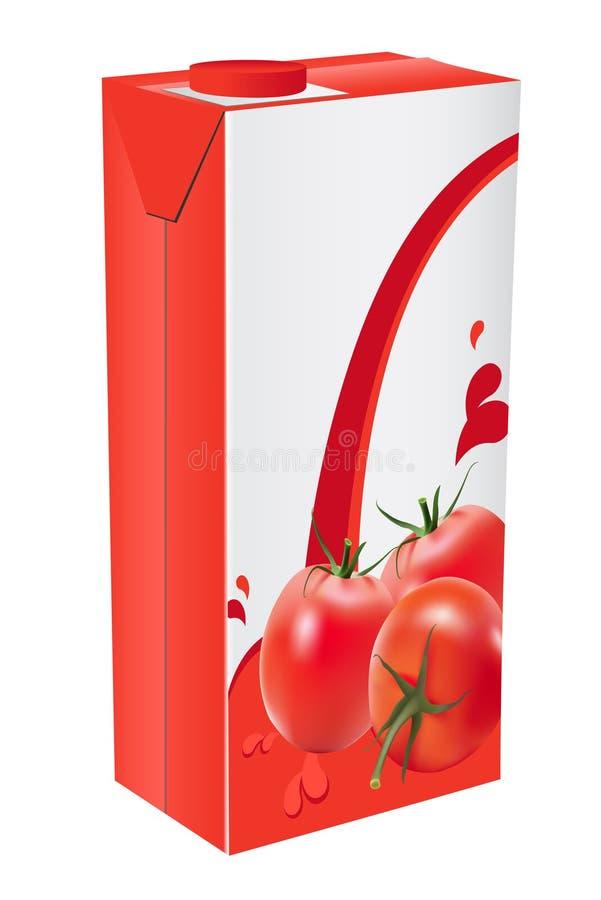 Suco de tomate ilustração do vetor