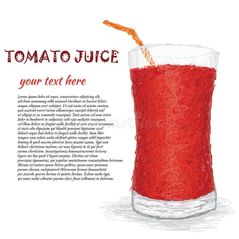 Suco de tomate ilustração royalty free