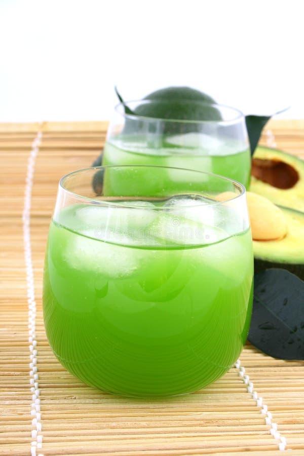 Suco do abacate foto de stock
