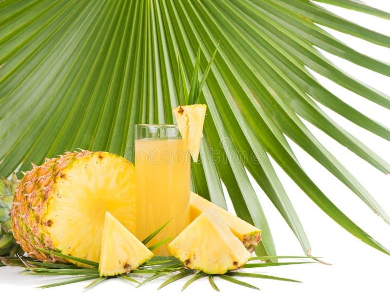 Suco do abacaxi imagens de stock
