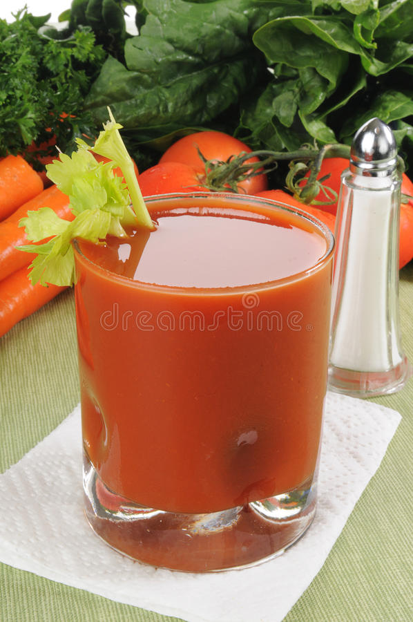 Suco do legume fresco foto de stock