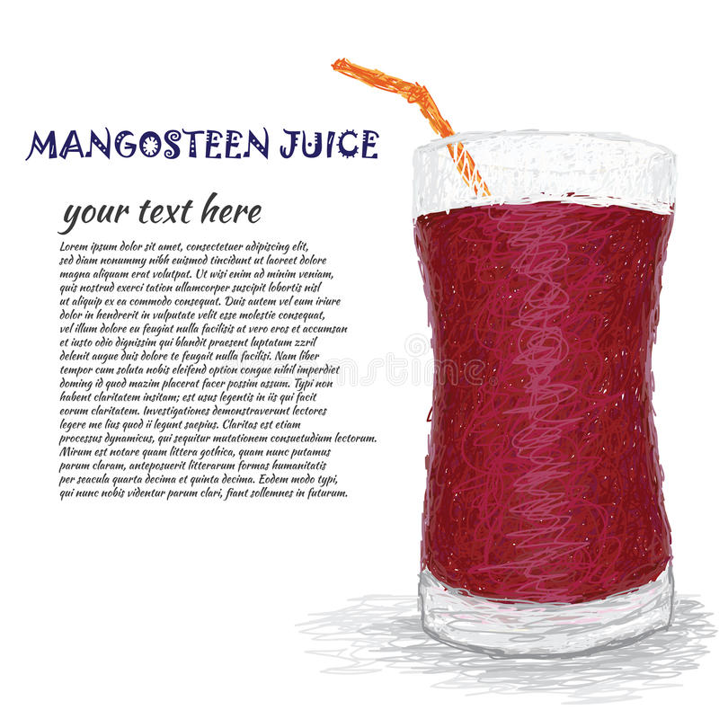 Suco do mangustão ilustração do vetor
