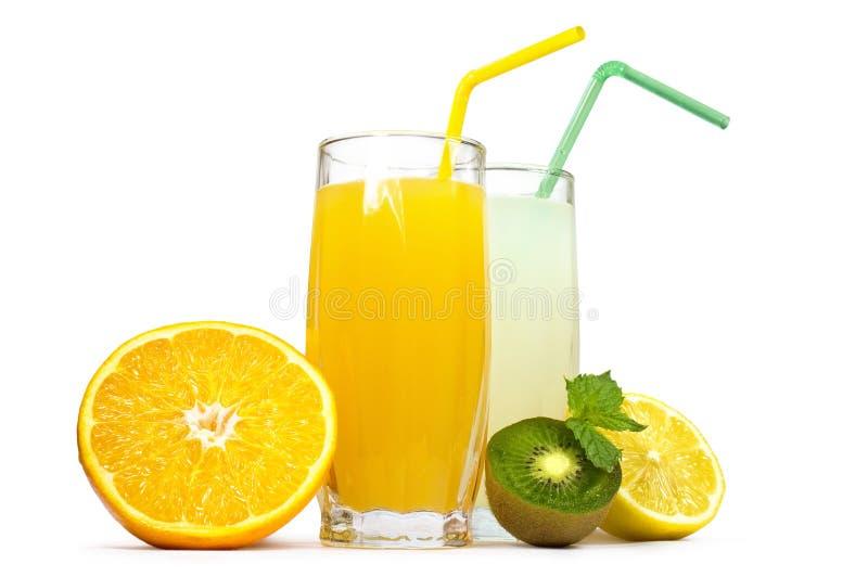 Suco e fruta frescos fotos de stock