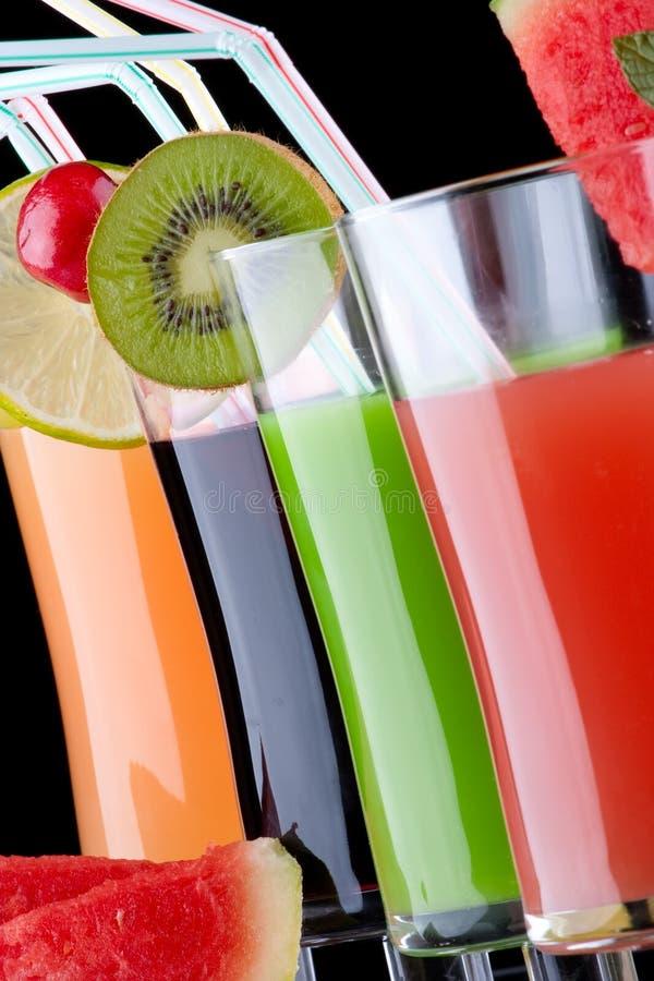 Suco e frutas frescas foto de stock