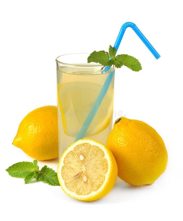 Suco e fruto de limão foto de stock