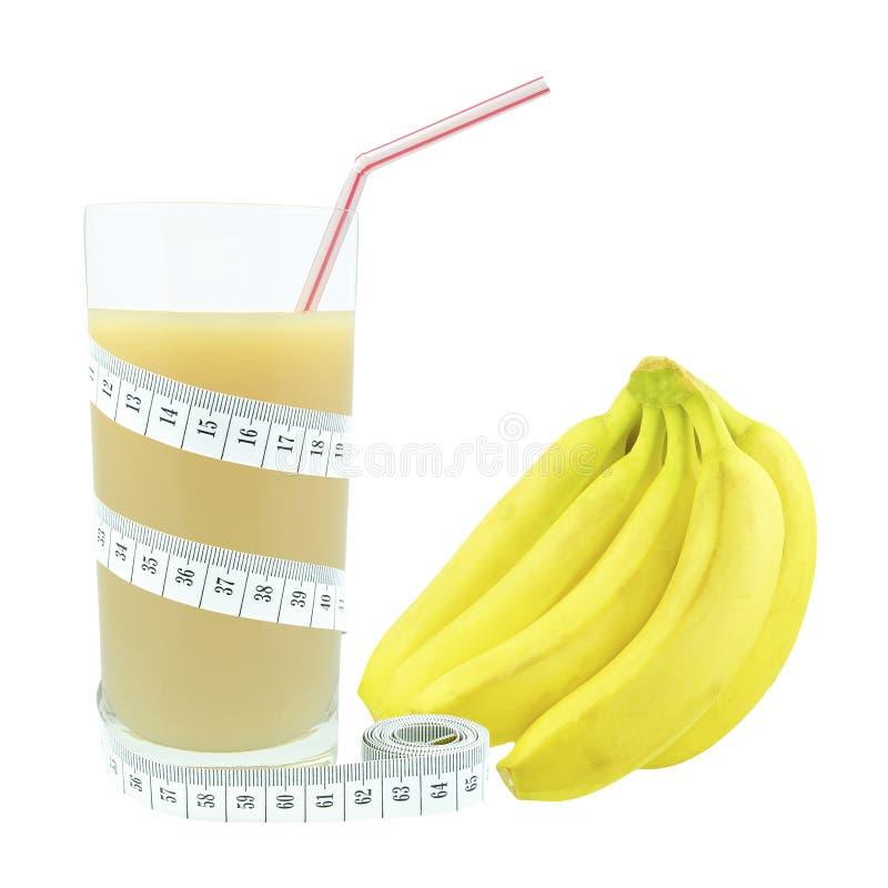 Suco E Medidor Da Banana Fotografia de Stock