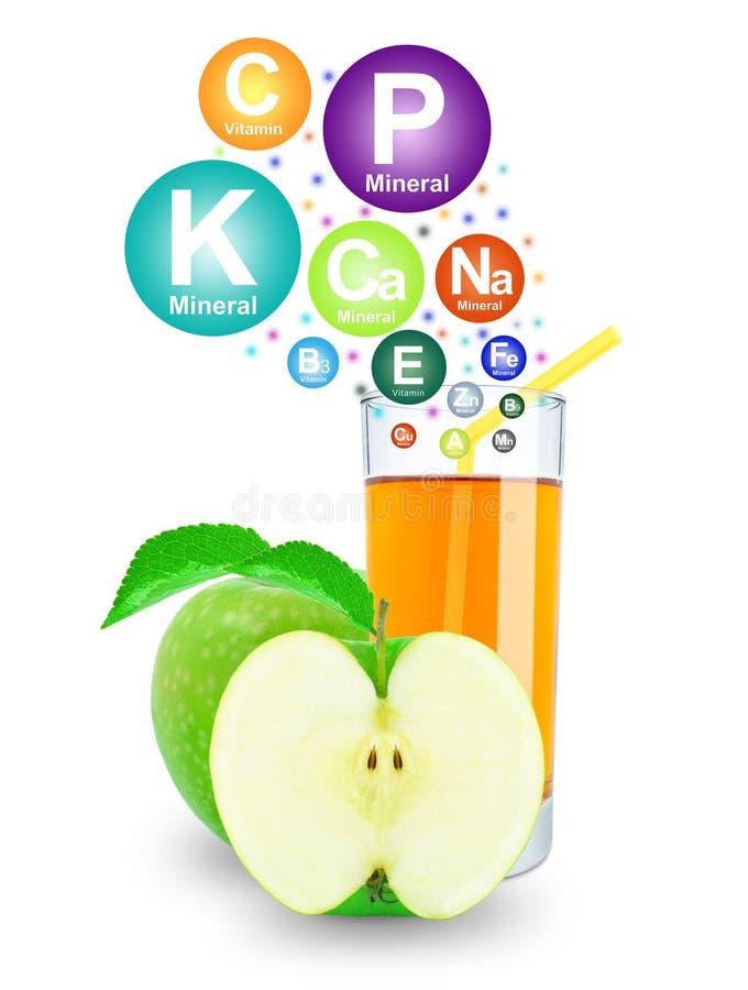 Suco e vitaminas de maçã imagem de stock royalty free