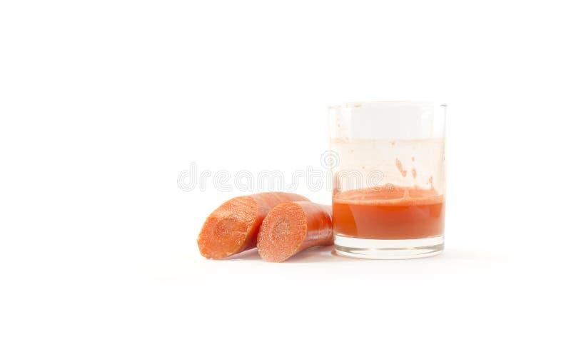 Suco fresco da cenoura fotografia de stock