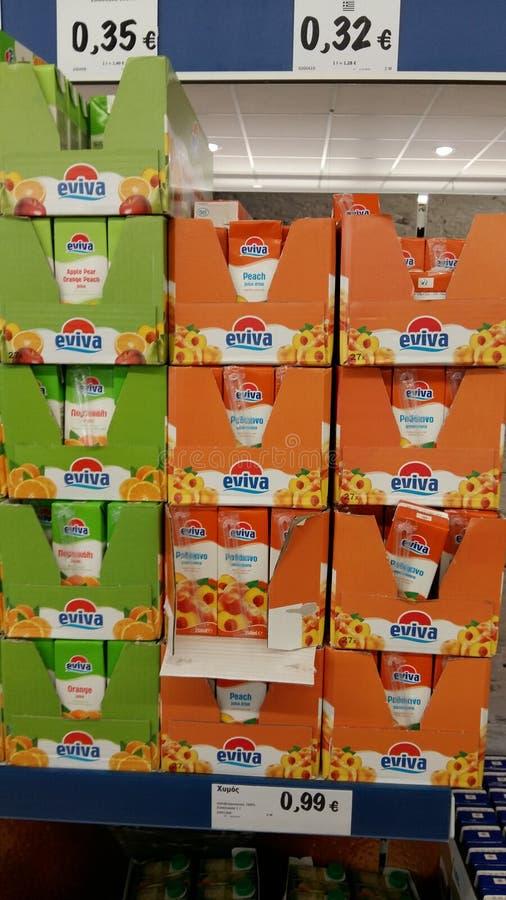 Suco no supermercado imagens de stock royalty free