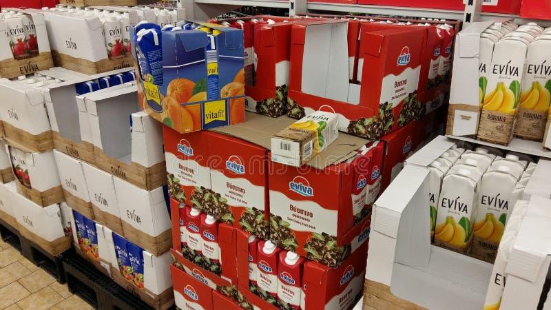 Suco no supermercado fotografia de stock