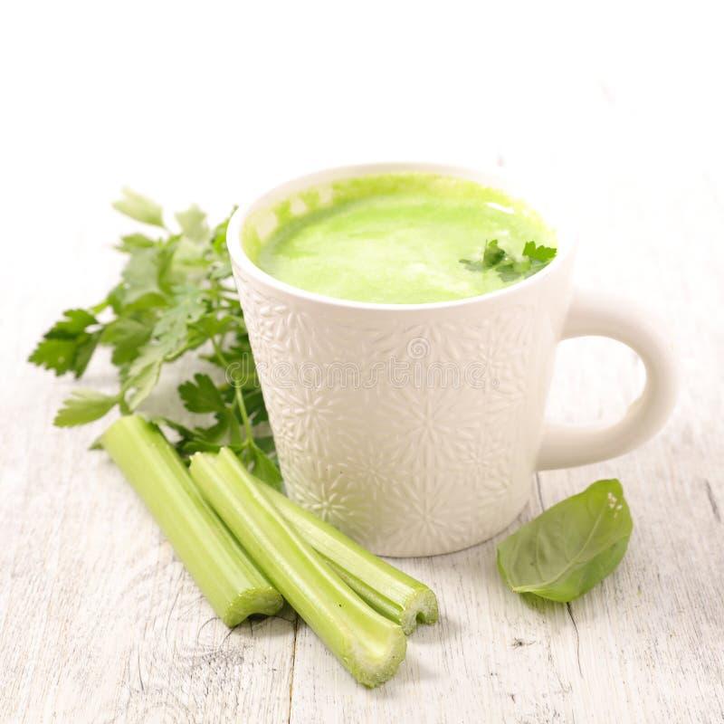Suco vegetal ou sopa foto de stock royalty free