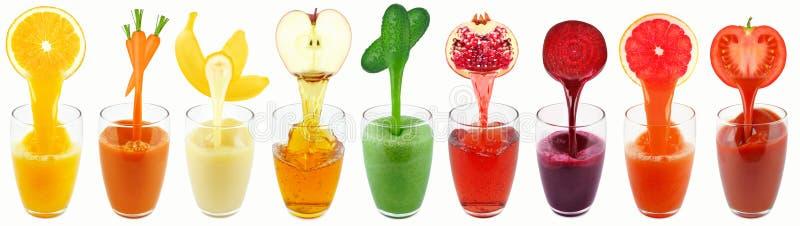 Sucos de fruto imagens de stock royalty free