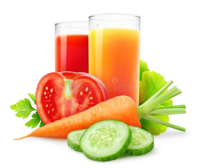 Sucos vegetais imagem de stock royalty free
