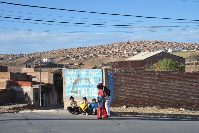 Sucre, Bolivië stock foto's