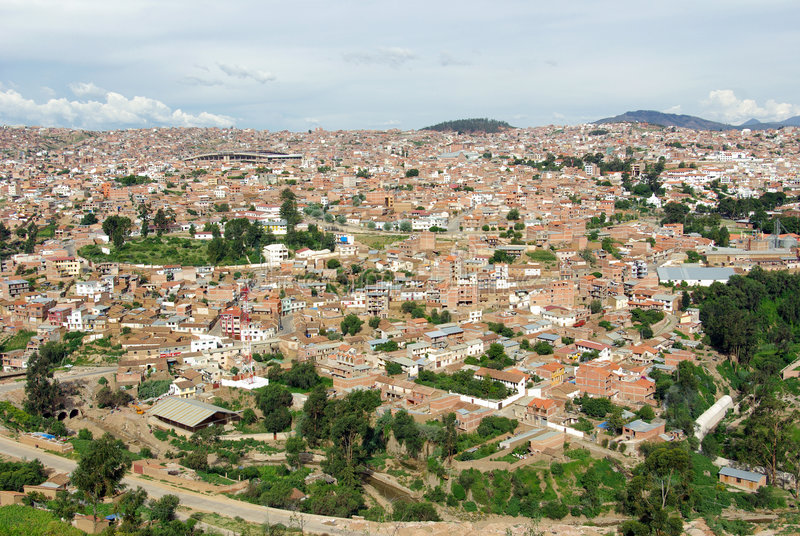 Download Sucre, Bolivia stock photo. Image of bolivian, aerial - 8897086