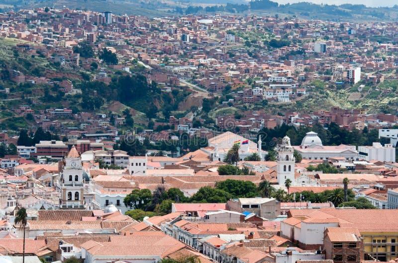 Sucre, capital de Bolivia imagenes de archivo