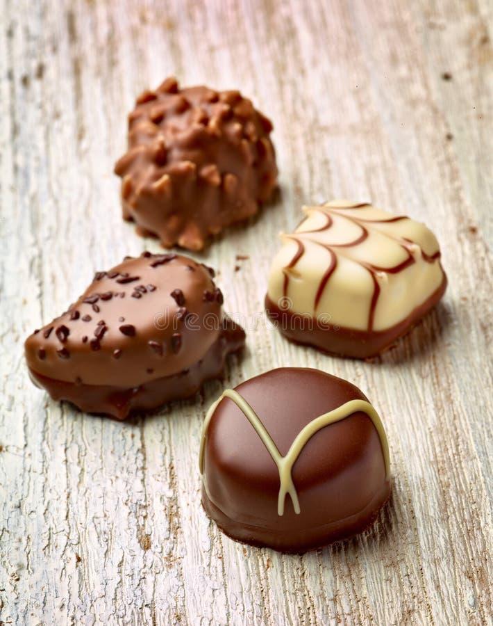 Sucrerie assortie par cadeau de praline de dessert de chocolat image libre de droits
