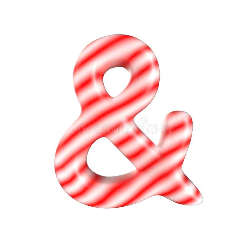 Sucrerie blanche rouge et symbole d'isolement sur le fond blanc photographie stock
