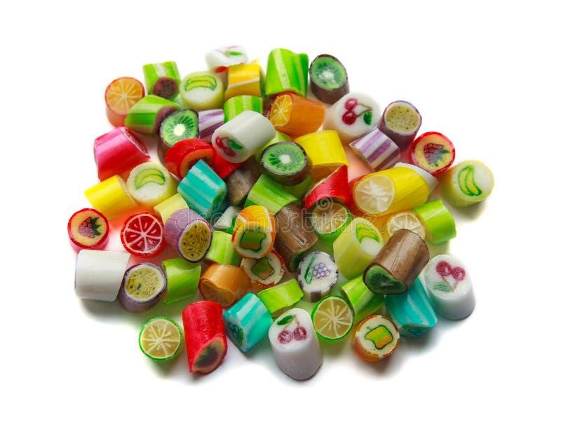 Sucrerie colorée en vrac images stock