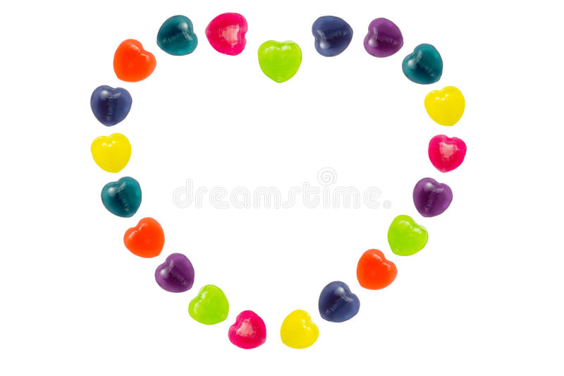 Sucrerie de coeur réglée dans la forme de coeur pour Valentine photo libre de droits