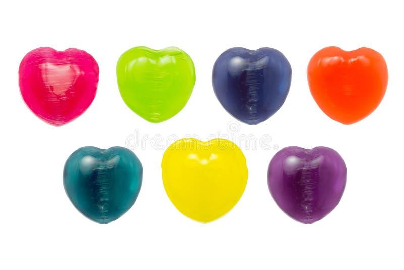 Sucrerie de coeur sur le fond blanc pour Valentine Day photos stock