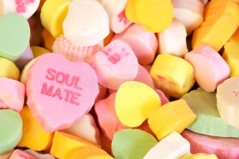 Sucrerie de compagnon d'âme de jour de Valentines photos stock