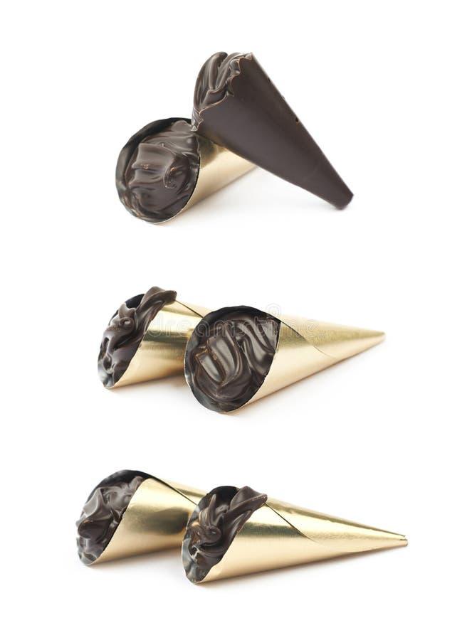 Sucrerie de confection de chocolat d'isolement photographie stock