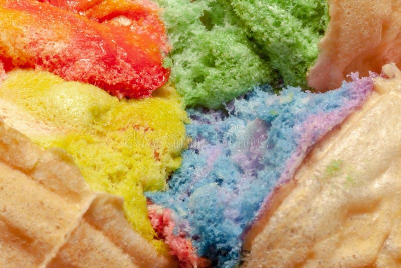 Sucrerie de coton colorée comme fond, plan rapproché Foyer sélectif photographie stock