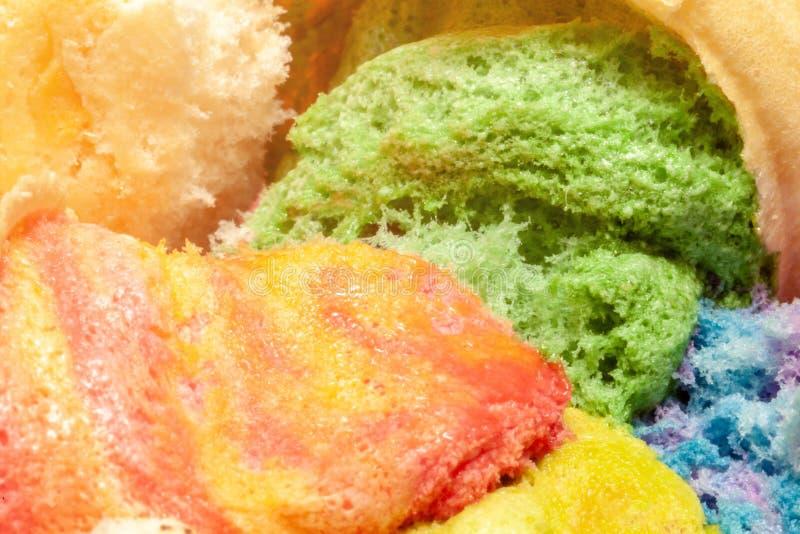 Sucrerie de coton colorée comme fond, plan rapproché Foyer sélectif images libres de droits