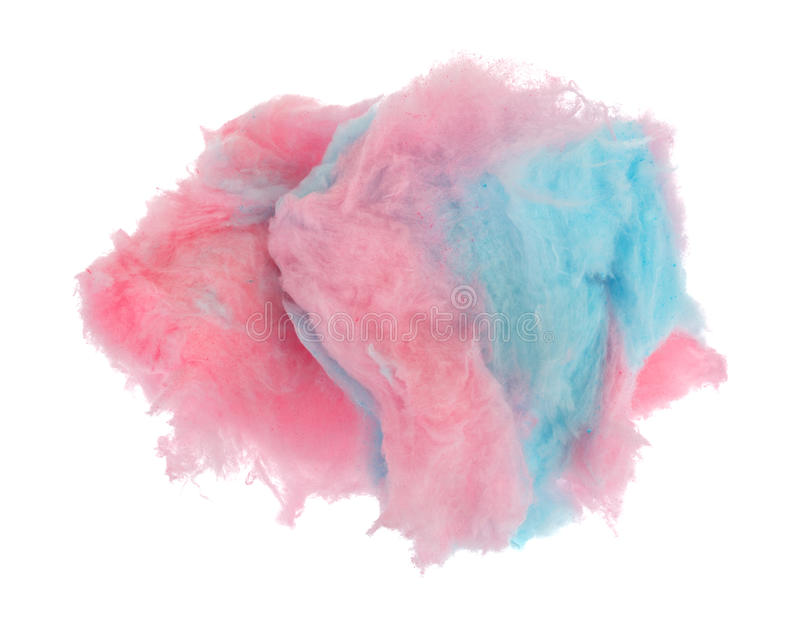 Sucrerie de coton rose et bleue images libres de droits